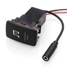 Автомобильный Bluetooth музыкальный адаптер Модуль панель установка AUX Выход использовать для TOYOTA, Camry, Corolla, Yaris, RAV4, eiz, Land Cruiser