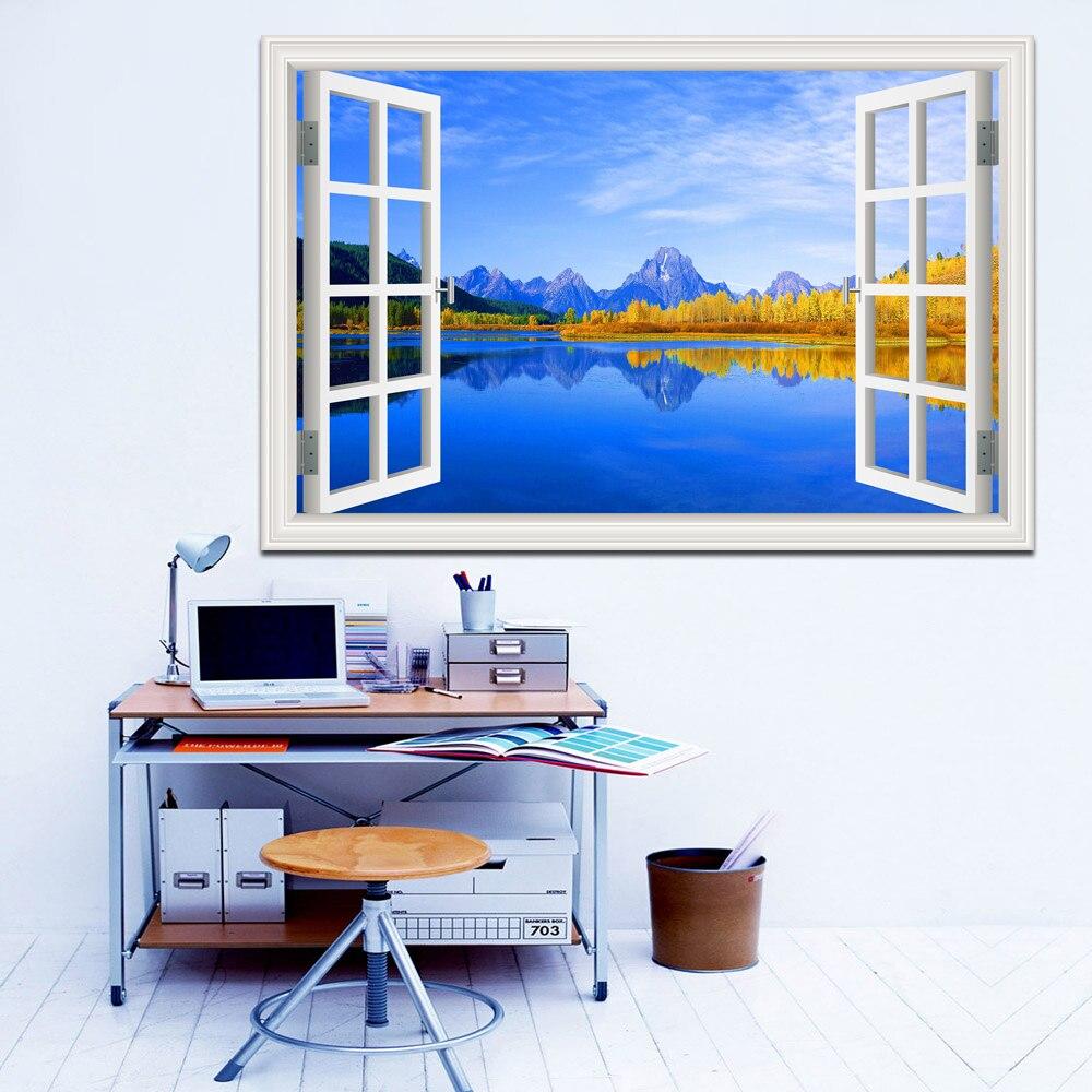 Զարմանալի Sunny Lake and Blue Sky Scenery Բարձրորակ - Տնային դեկոր - Լուսանկար 5
