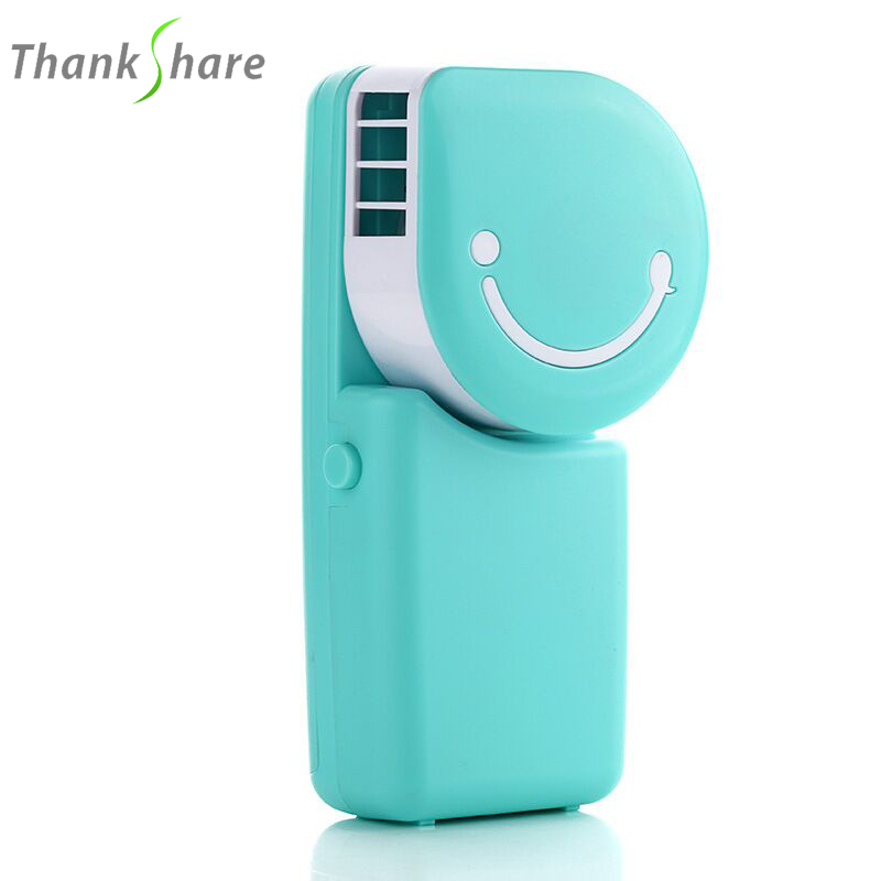 купить Portable Mini Air Condition USB Rechargeable Water Cooling Fan For Home Office Outdoor Smile Face Handheld Micro Cooler Fan недорого