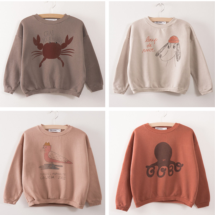 2016 autumn winter bobo choses rabbit hoodies children sweatshirts vestidos vetement enfant fille garcon bebe kids clothes