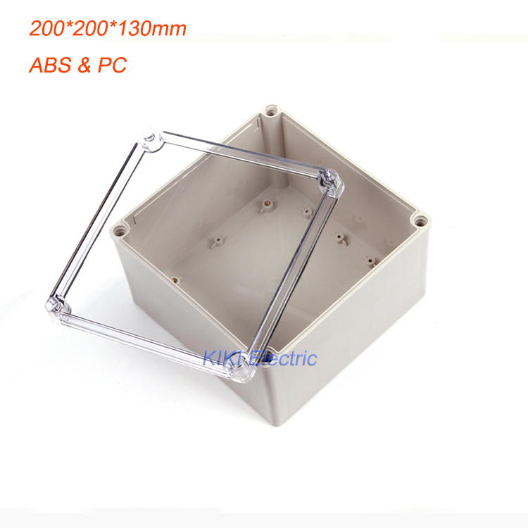Big Square ip66 waterproof plastic box use as terminal /Meter/Junction Enclosure  Clear Cover ABS boxes 200*200*130mm DS-AT-2020 стоимость