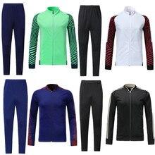 Светильник, куртка, футбольные наборы с длинным рукавом, куртка для бега, Футбольная форма для взрослых, индивидуальный логотип lh0001