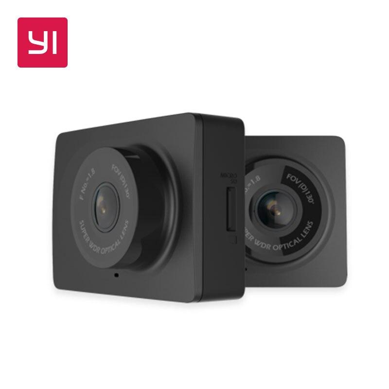 YI Compacto Traço Câmera 1080 p Full HD Câmera Painel Do Carro com Tela LCD de 2.7 polegada 130 WDR Lente G-Sensor de Visão Noturna Preto