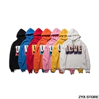 2017 Xieruis Mix Kleuren Liefde Print Capuchon Sweatshirts Hiphop Kleding Kanye West Oversized Merk Katoen Casual Hooded Hoodies