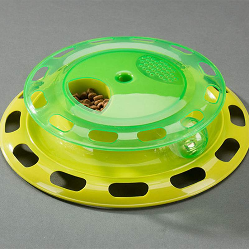 Funny Interactive Toys For Cat Turntable Food Bowl