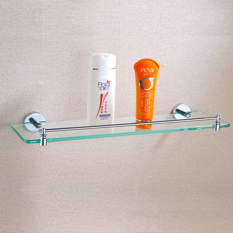 Wall Mounted Shelf Chrome Brass Shower Shampoo Bath Organizer Single ...