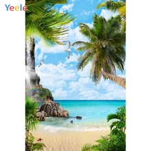 Yeele Seaside Beach Palm Trees Bird Tropical Jungle Photography Backgrounds Personalized Photographic Backdrops For Photo Studio