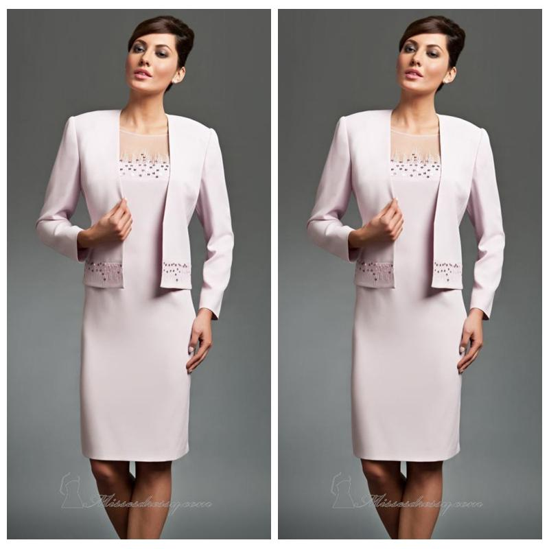 Women Career Suits 2016 See Through Sheer Illusion Neck Formal Dress