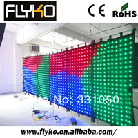 Free shipping new products 2*6m p10cm wholesale full color led video curtain screen