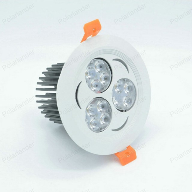 6pcs/lot Aluminumled Ceiling Light Spotlight Led Lamp Led Down Lights Home  Decor White Aluminum