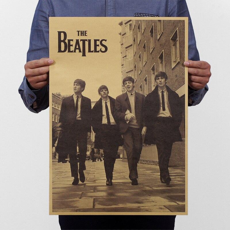 Новое поступление ретро классический ролл рок-группа музыка кино kraft Бумага плакат старинные стены Стикеры Античный Декор дома 51x35 см