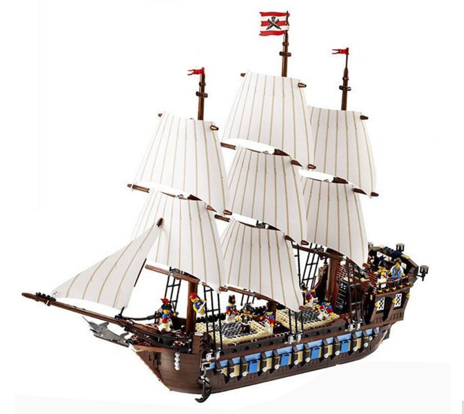 Lepin 22001 Pirate Ship Imperial Warships 1717 Pcs Mini Bricks Set Sale 10210 Models & Building Blocks Toys For Children lepin 22001 pirates series the imperial war ship model building kits blocks bricks toys gifts for kids 1717pcs compatible 10210