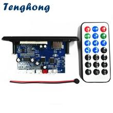 Tenghong MP3 디코더 보드 2 채널 앰프 무선 블루투스 4.2 FM 10W + 10W 12V 무손실 자동차 스피커 APP 오디오 수신기