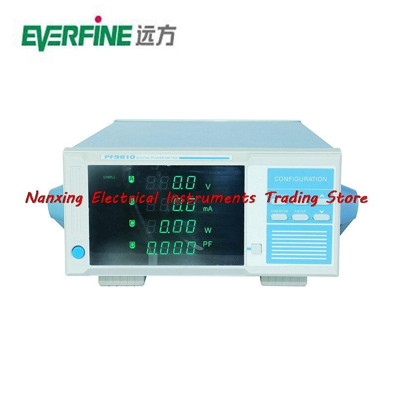 Compteur dénergie numérique EVERFINE PF9810 à arrivée rapide (modèle harmonique) 600 V, 2000mA