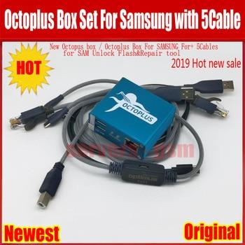 100% Original 2019 nuevo octoplus/octopus box para la activación de samsung para reparación y flash SAM y desbloqueo + 5 cables