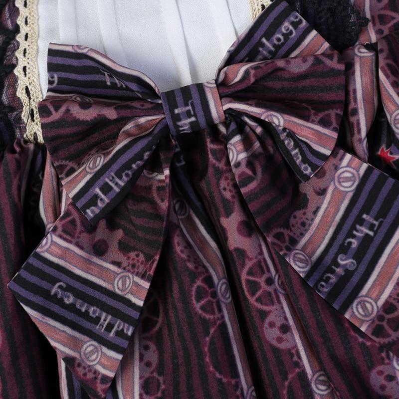 Headwear Imprimir Primavera Arco Conejo Vestido Headwear T666 With Princesa De Con Mujer Dulce Sombrero Encaje Lolita Negro Vestidos Japonés black Lujo Beige Volantes 5zPwEnxqR