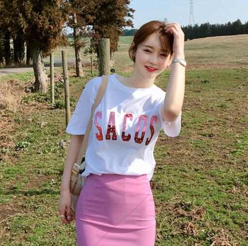 korean long pencil skirt with slit Sexy kawaii harajuku vintage Style women High Waist plus size Pink Bag hip Skirts in Skirts from Women 39 s Clothing