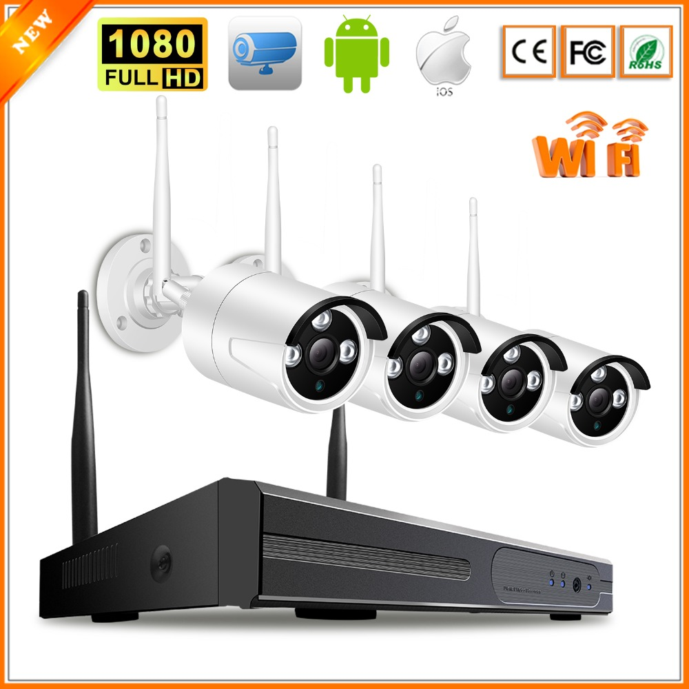 BESDER 1080P Wireless Ip Camera Surveillance System Indoor Outdoor Home Security Wifi Camera Ip NVR Kit