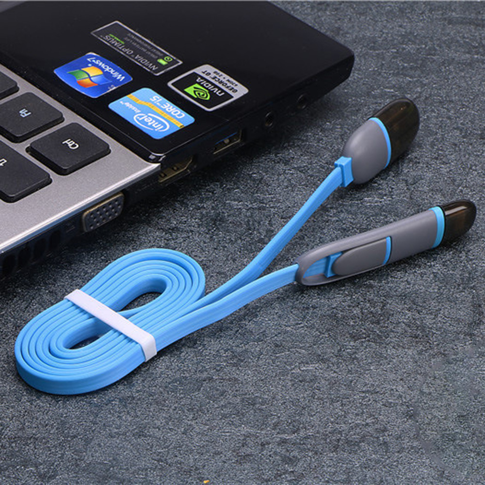 Multi color data line 2 in 1Fast Charging Cable multi function data line for Apple for Android charging line-in Mobile Phone Cables from Cellphones & Telecommunications on AliExpress