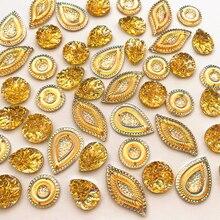 Комбинированные формы желтые пуговицы для шитья на AB ремесла стразы камни и кристаллы Бусы со стразами шитье для одежды костюм свадебное платье