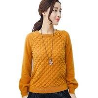 JINJIAXIAN Brand Cashmere Sweater Women S Genuine Long Sleeved Women S Wool Sweater Loose Loose Large