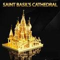 ICONX St Basil Cathedral 3D Puzzle De Metal Para Adultos Inoxidável aço diy montagem modelo de construção de brinquedos educativos crianças brinquedos para menino