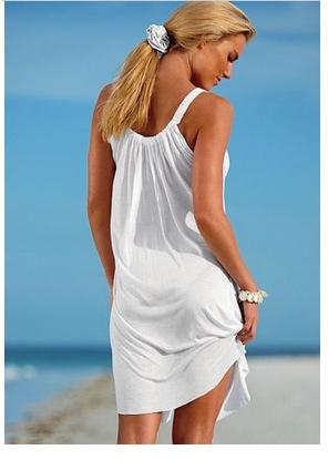 Women Summer Beach Boho Strap Sundress Dress