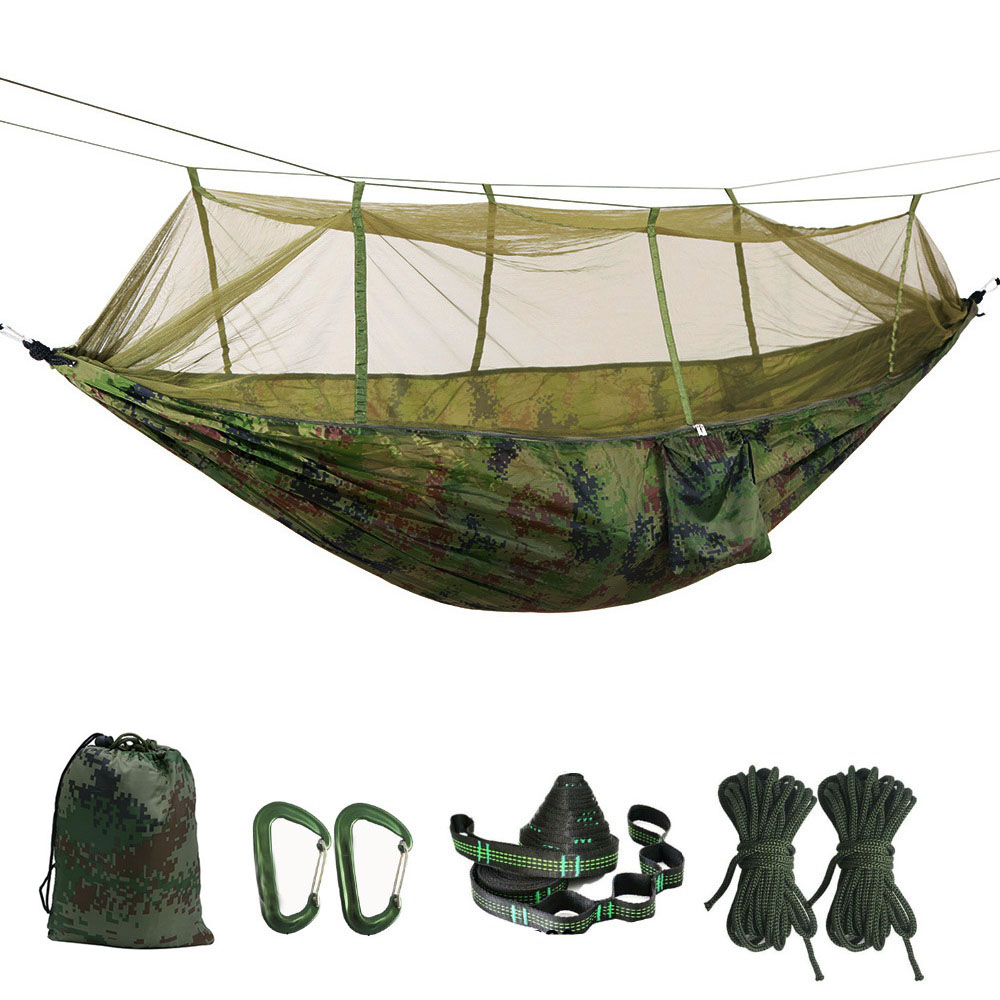 Portable Mosquito net Hammock Double-person Folded Into The Pouch Mosquito Net Hammock Hanging Bed For Travel Kits Camping