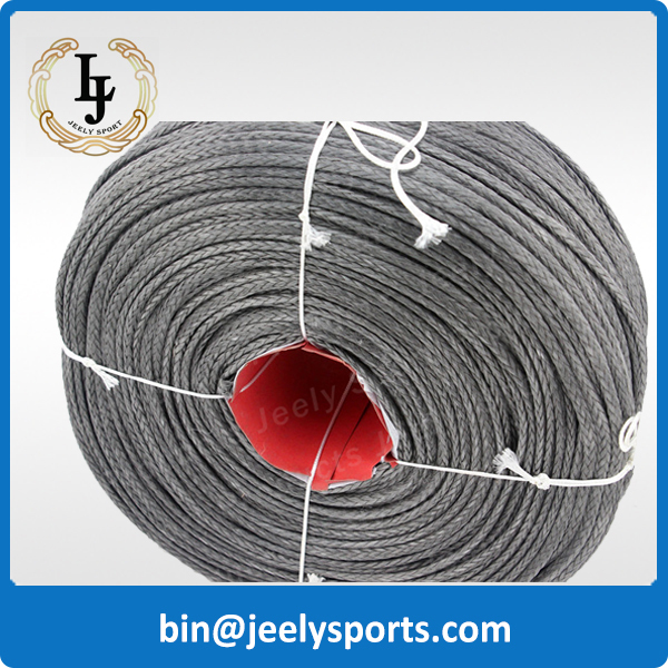 Free shipping! 300M/piece 5500LB uhmwpe braid paraglider winch rope 5mm super strong