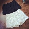 Moda del nuevo desgaste externo Capa sobre capa de encaje crochet lace shorts casual Tres Pantalones
