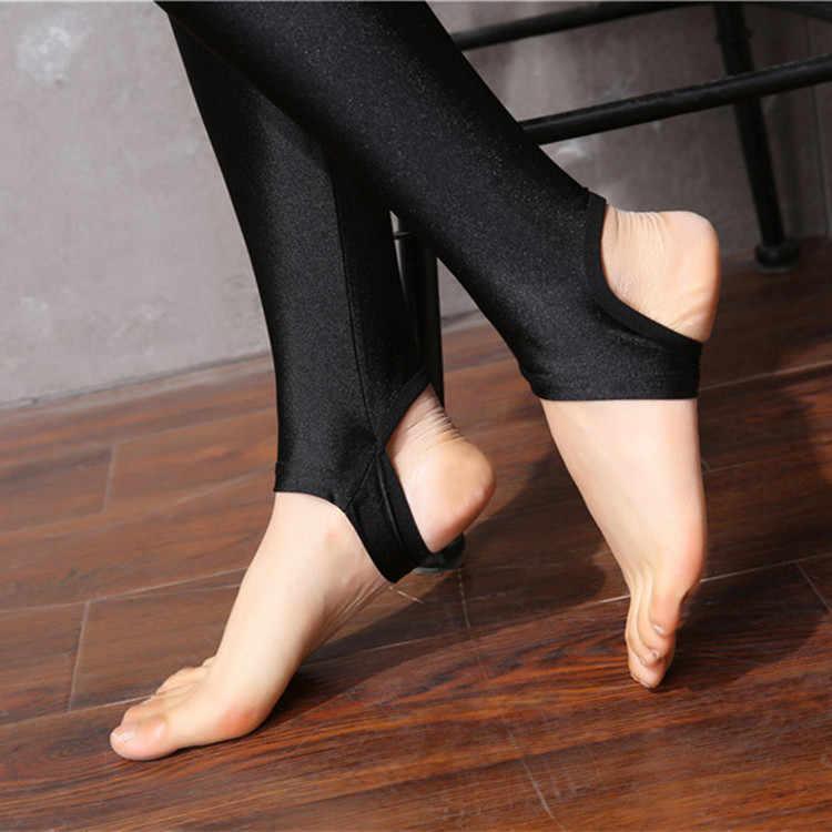 cdb5184c8226d ... LGFD810T women XXXL 4XL Plus size fashion glitter gloss shiny tights  open toe autumn black tights ...