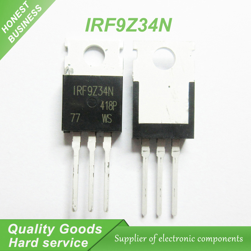 US $1 7 6% OFF|10pcs IRF9Z34N IRF9Z34 IRF9Z34NPBF MOSFET MOSFT PCh 55V 17A  100mOhm 23 3nC TO 220 new original-in Integrated Circuits from Electronic