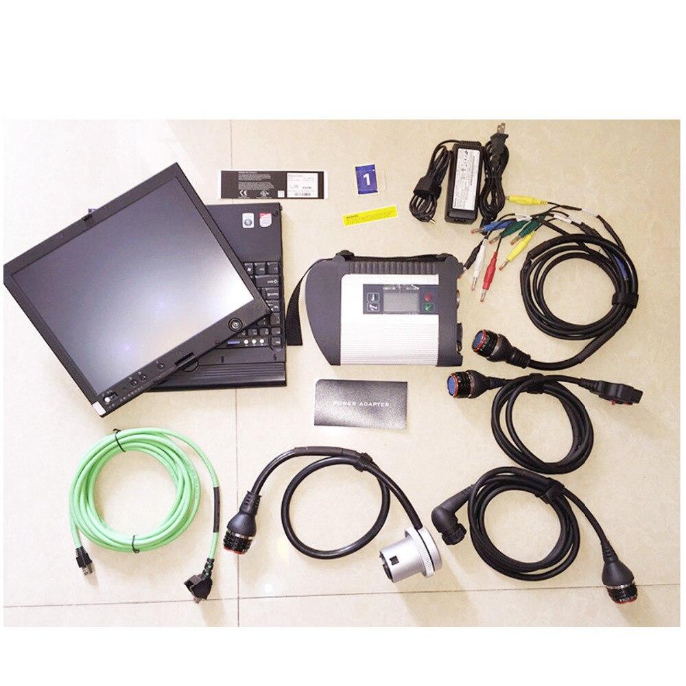 V09/2018 C4 logiciel ajouter FDOK Htt-gagner plus fonction MB SD C4 Diagnostic système dans X200T ordinateur portable prêt à Utiliser pour MB voiture camion