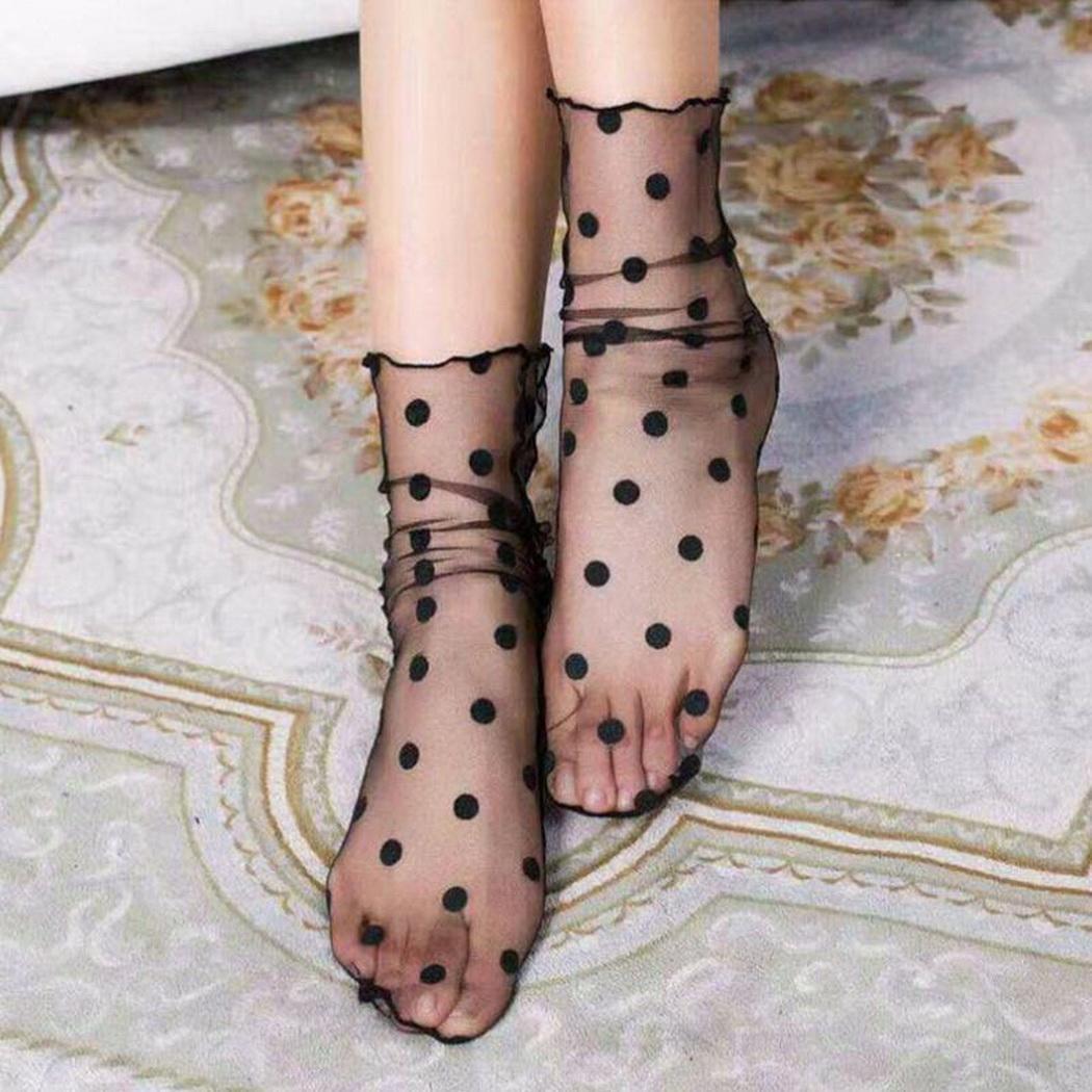 Black Mesh Lace   Socks   Ankle-High Women Fishnet Breathable Short   Socks   Calcetines Mujer Chaussette Femme Meia Sokken Skarpetki