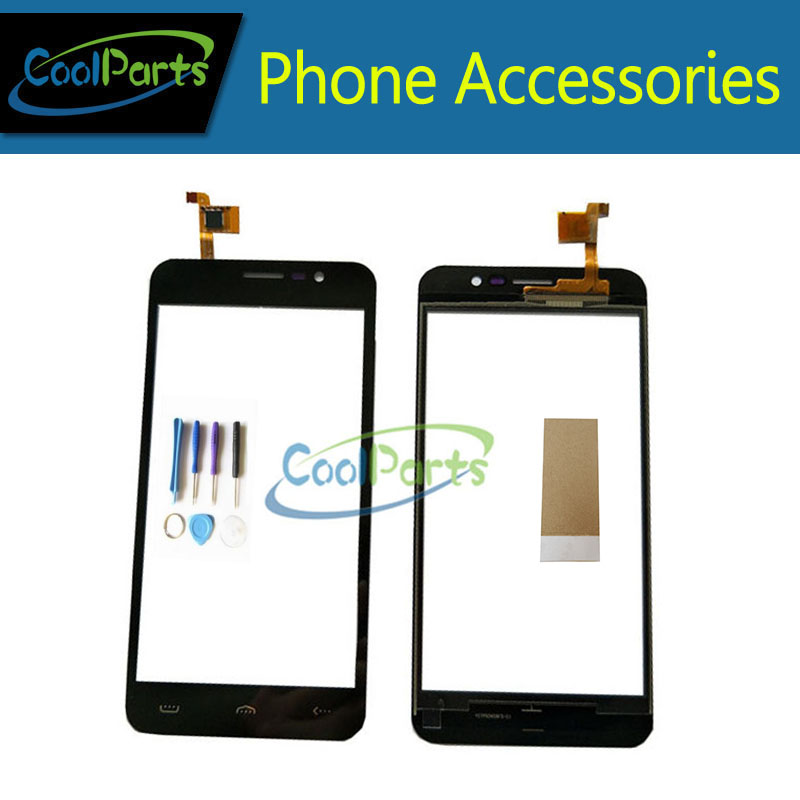 1PC/Lot High Quality 5.0Inch For Homtom HT16 Touch Screen Digitizer Touch Panel Lens Glass With Tool&Tape Black Color
