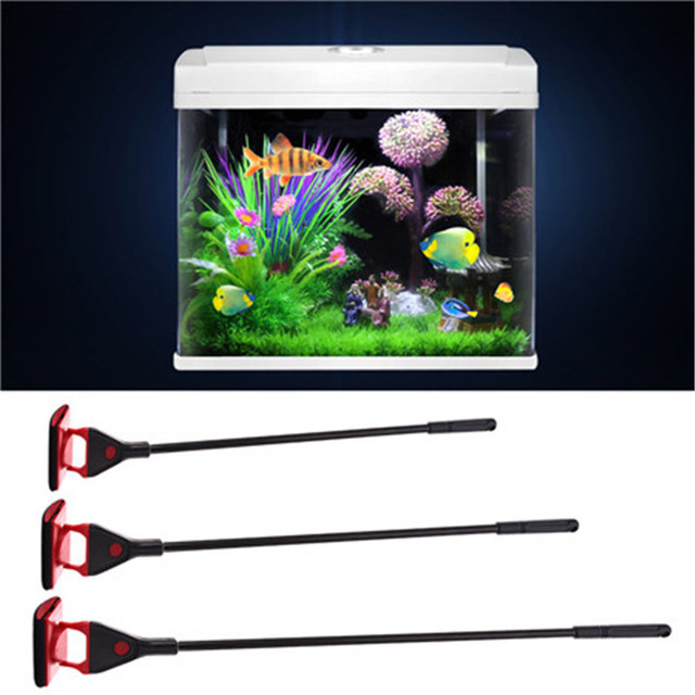 3 in 1 Plastic  Aquarium Washing Device Fish Tank Brush to clean cullet  moss dinas  S/M/L 1pcs Newest 2017