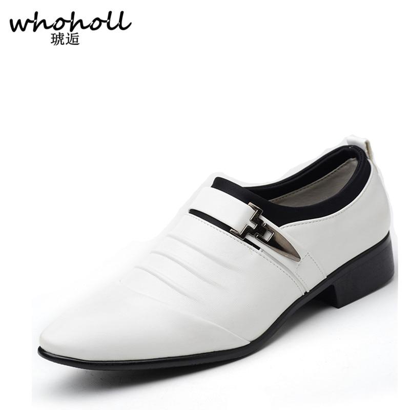 Boda 38 Vestir Estrecha Zapatos marrón Hombres 1 La Los 48 De Del 2 Calzado Ue blanco Punta Cuero Para Moda Negocio 2017 Oxford Negro Vestido Tamaño Auténtico Yz0wxAqq