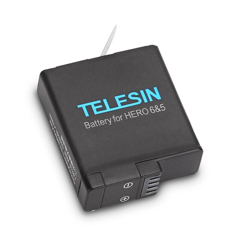 TELESIN 2 pcs 3.85 v 1220 mah Remplacement Batterie Rechargeable + Cas De Stockage pour GoPro Hero 6 Noir Hero 5 noir Hero7 Noir