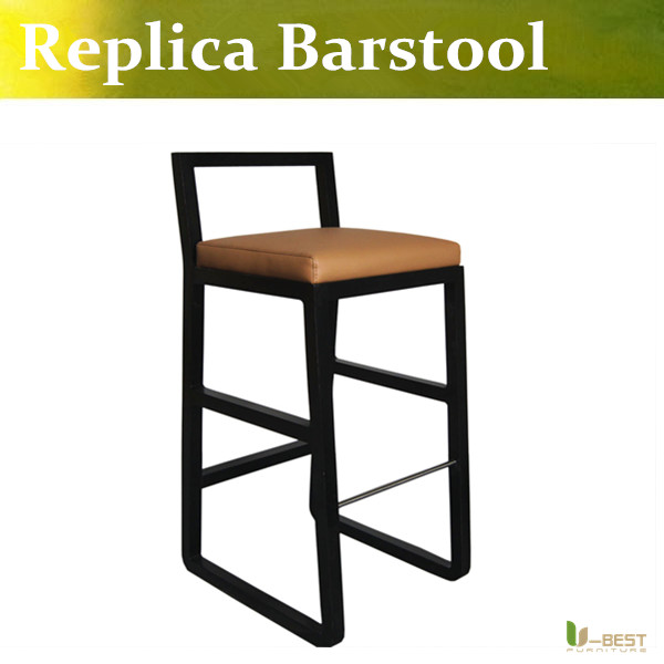 Free shipping U-BEST counter bar chair with upholstered seat and back,hotel barstools latest Back bar stools for Hotel Furniture