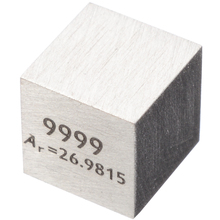 1pcs 99.99% High Purity Aluminum Alloy Element Cube 10mm Metal Density Cubes Carved Element Periodic Table Cube