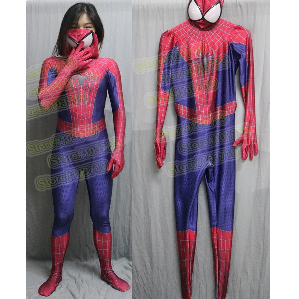 Hero Catcher High Quality Amazing Spiderman Costume Adult Custom Made Spiderman font b Suit b font