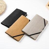 Clásico portátil cubierta del cuaderno de papel Kraft, multa de tapa dura planificador diario de viaje, Correa de libro de bolsillo 3 modelos BJB10