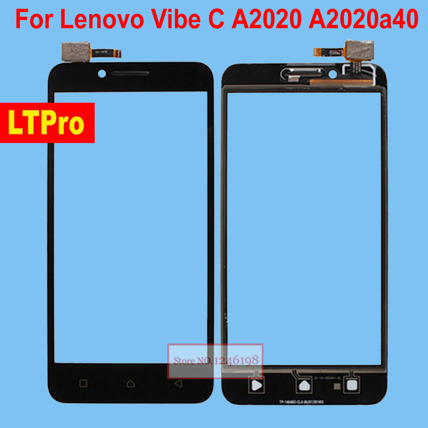 US $8 94 10% OFF|LTPro Black White outer Glass Panel Touch Screen Digitizer  For Lenovo Vibe C A2020 A2020a40 Mobile Repair Replacement Parts-in Mobile