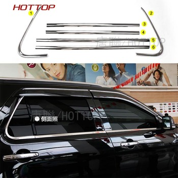 6PC/SET stainless steel Window Bottom Sill Frame Cover Trim For  Ford Explorer 2013-2017
