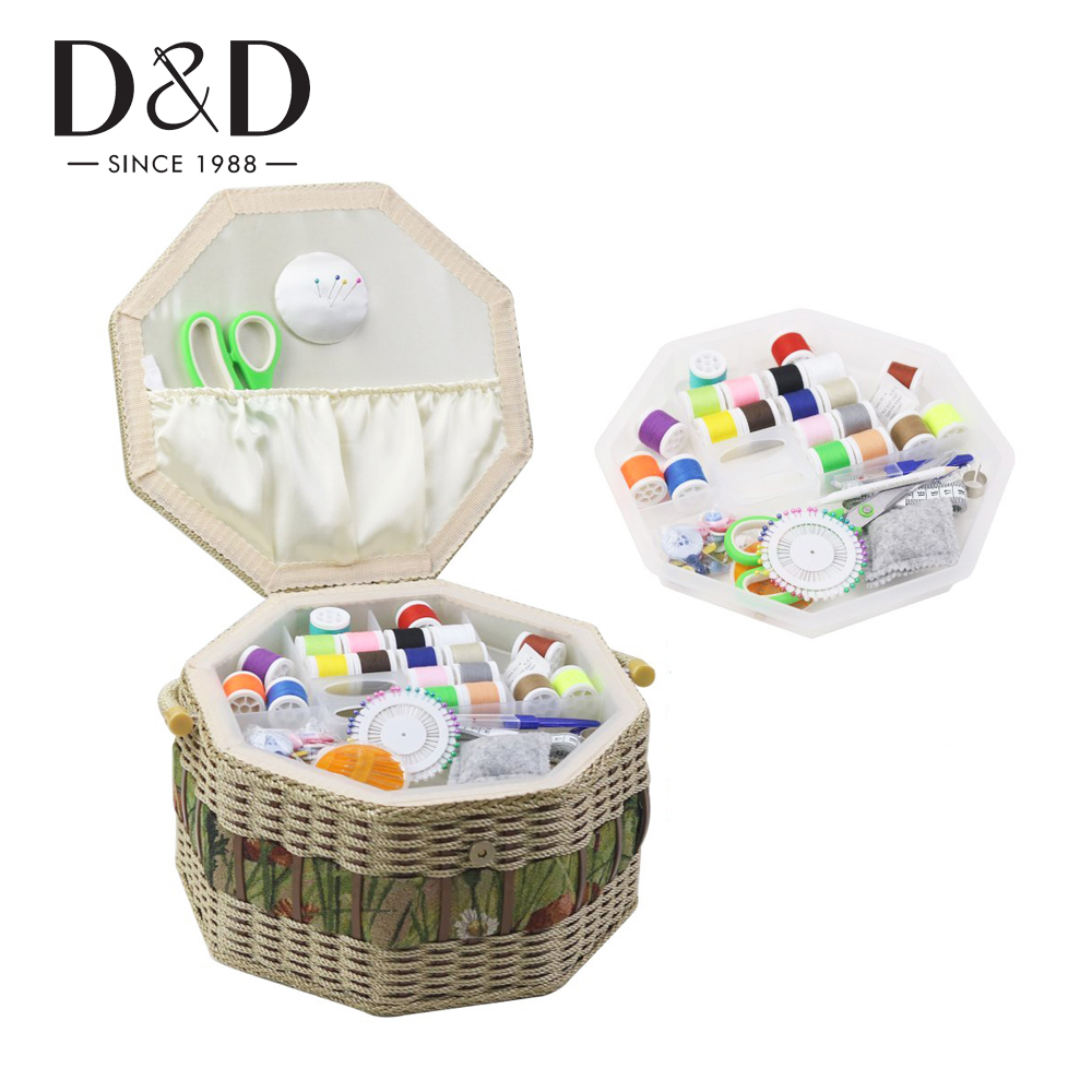 Owl Extra Large Sewing Box Organizer for Sewing Supplies Storage D/&D Vintage Sewing Basket with Accessories Complete Sewing Kit Tools for Sewing Mending
