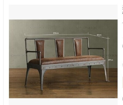 Wind Wrought Iron Sofa Chair Coffee Bar Chairs Benches Furniture Continental Helping S