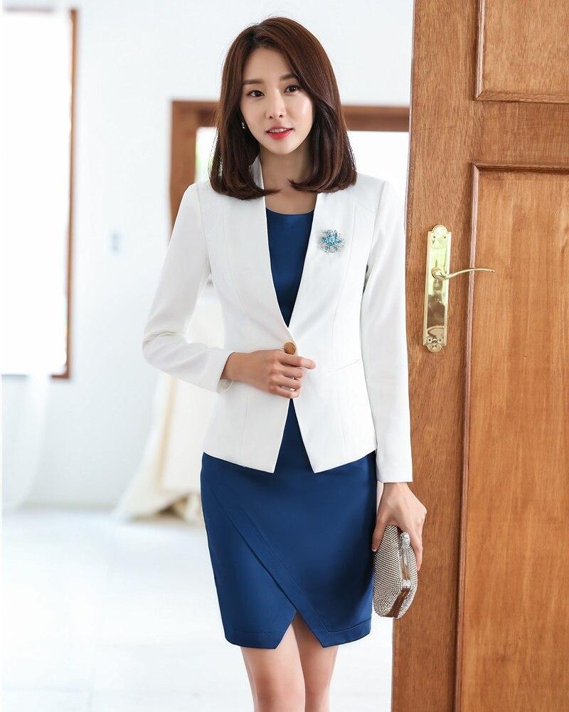 Di Affari Uniformi Donne Sportiva Eleganti E Ol Stili Donna Interi Le Lavoro Bianca Set Giacca Ufficio Per Usura Del Vestiti a400YwqRF