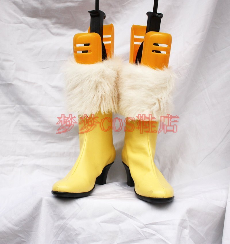 Final Fantasy Cosplay FF13 Herb Cosplay Boot Yellow Shoes Halloween Carnival Cosplay