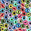 12mm 22colors for Choice All In Pairs Dragon Eyes Round Glass Cabochon Jewelry Finding Cameo Pendant Settings 50pcs/lot K03036