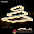 Modern LED Pendant Lights Acrylic 3 Rectangles LED Suspension Light Lamp for Dinning Room led luster Pendelleuchte